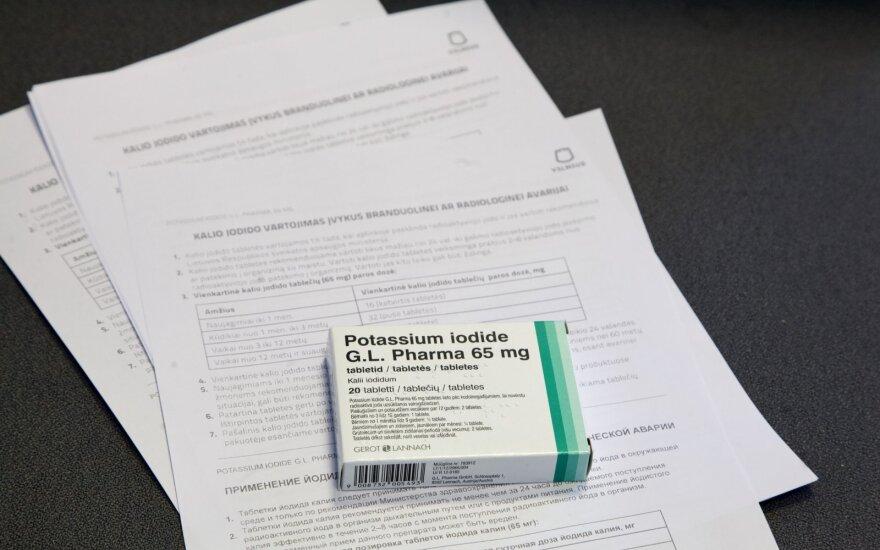 Муниципалитет: в Вильнюсе продлят срок выдачи таблеток йодида калия жителям