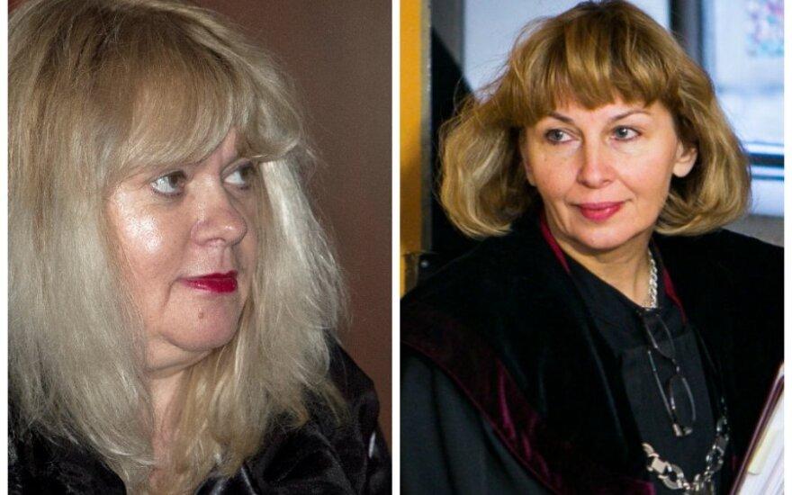 Nijolė Bareikienė (kairėje) ir teisėja Regina Pocienė