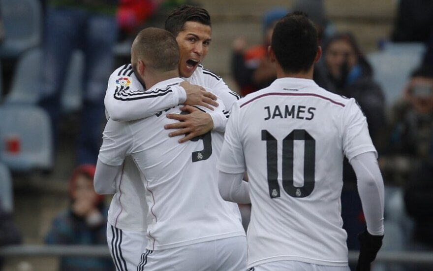 Cristiano Ronaldo, Karimas Benzema ir Jamesas Rodriguezas