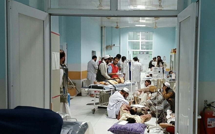 Afganistano Kunduzo ligoninė po oro atakos