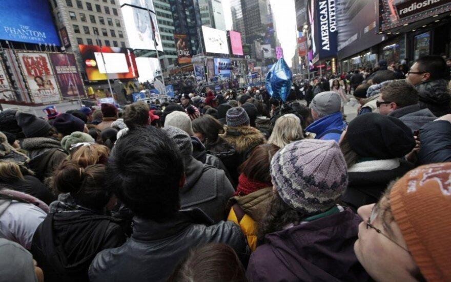 Minia, laukianti Naujųjų metų Niujorke