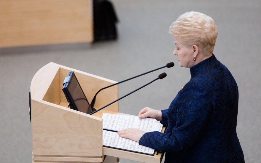 Последнее годовое сообщение президента Литвы Дали Грибаускайте: 5 важнейших акцентов