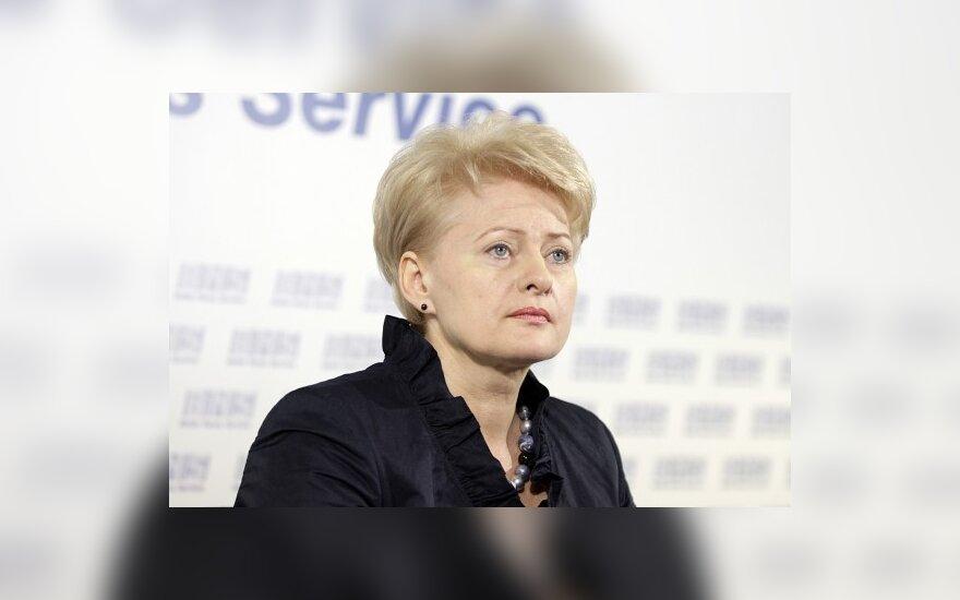 Д.Грибаускайте: ЕС в энергетике не оставит один на один с Россией