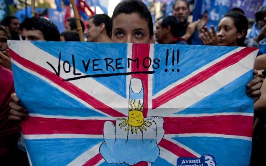 Argentinos aktyvistai kovoja dėl Folklando salų