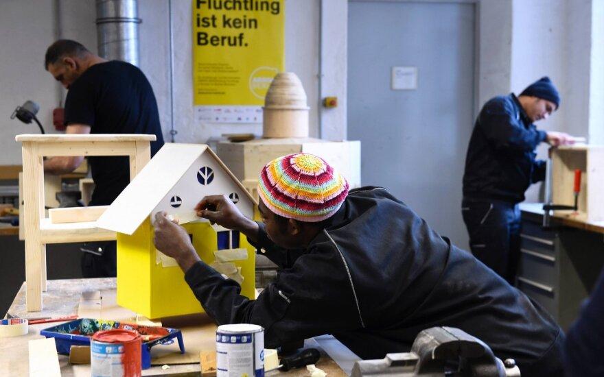 Pabėgėliai dirba Vokietijos įmonėse