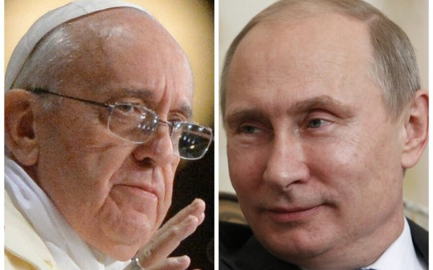 Popiežius Pranciškus ir Vladimiras Putinas, DELFI montažas