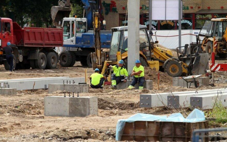 В Каунасе строят новый торговый центр