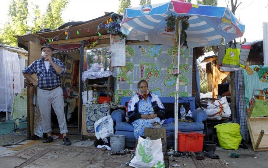 Romų stovykla Prancūzijoje
