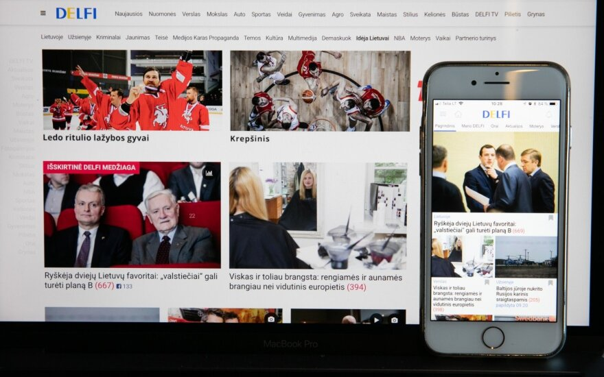 DELFI – самый читаемый информационный портал в Литве
