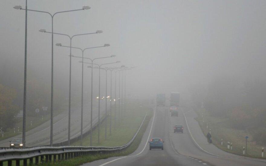Условия движения усложняет туман и изморозь