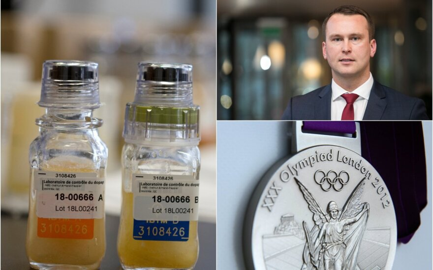 Jevgenijus Šuklinas, Londono olimpinių žaidynių sidabro medalis, dopingo mėginiai