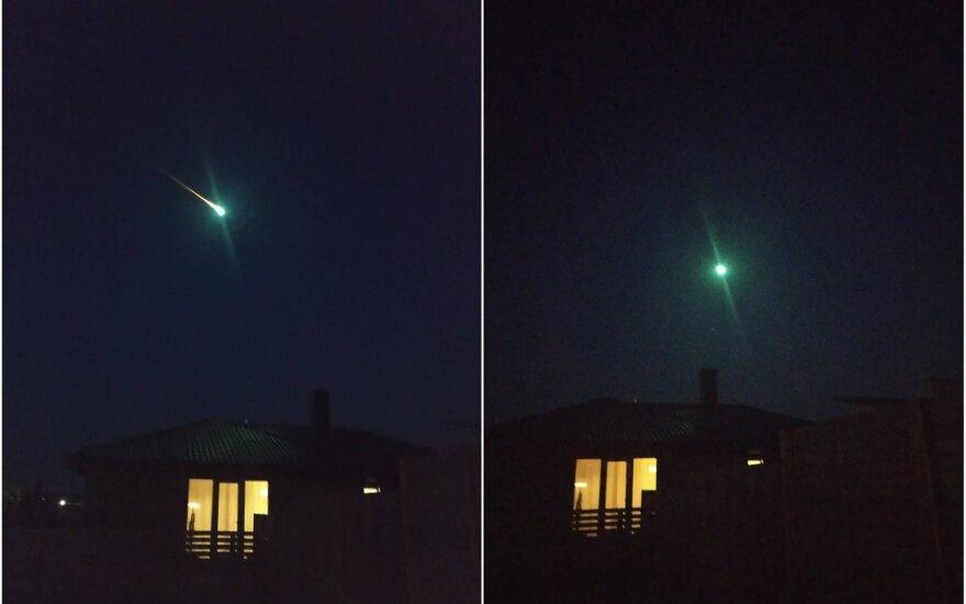 Galimai užfiksuotas meteoritas