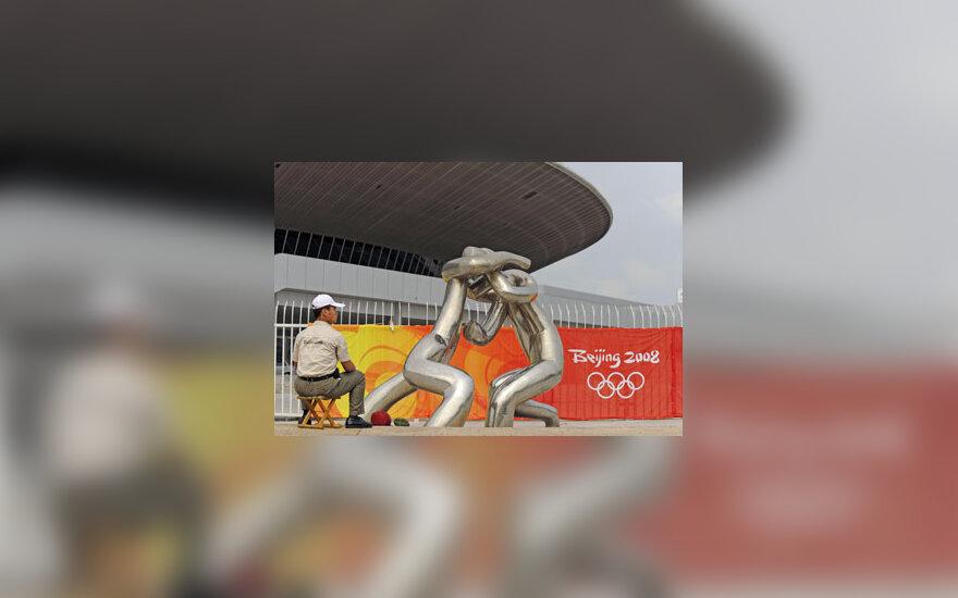 Skulptūra prie Tiandžino stadiono Pekine