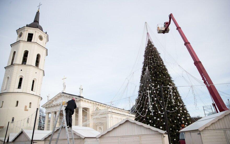 В Вильнюсе зажгут огни главной ёлки: в городе будет ограничено движение