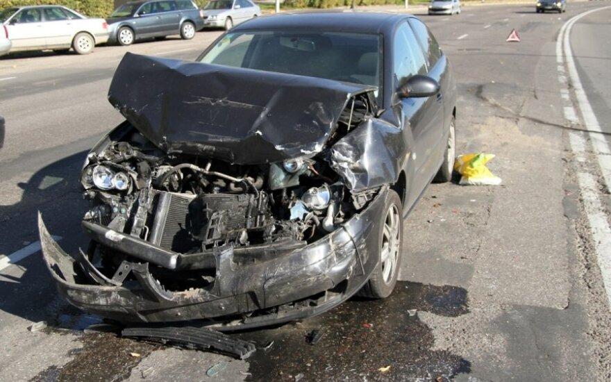 В Каунасе в результате аварии пострадала девушка