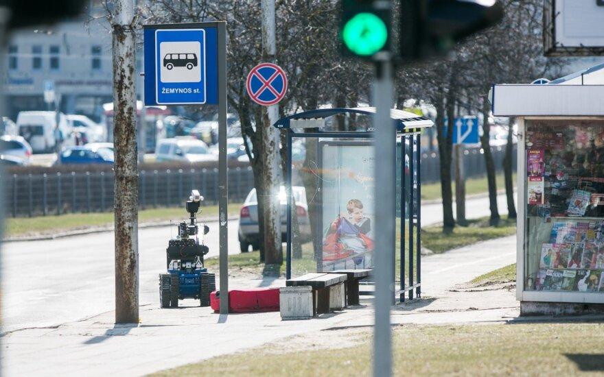 """В Вильнюсе была закрыта часть пр. Лайсвес: саперы """"Араса"""" проверяли странную находку"""