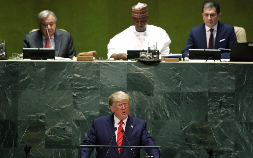 D. Trumpas Jungtinėse Tautose