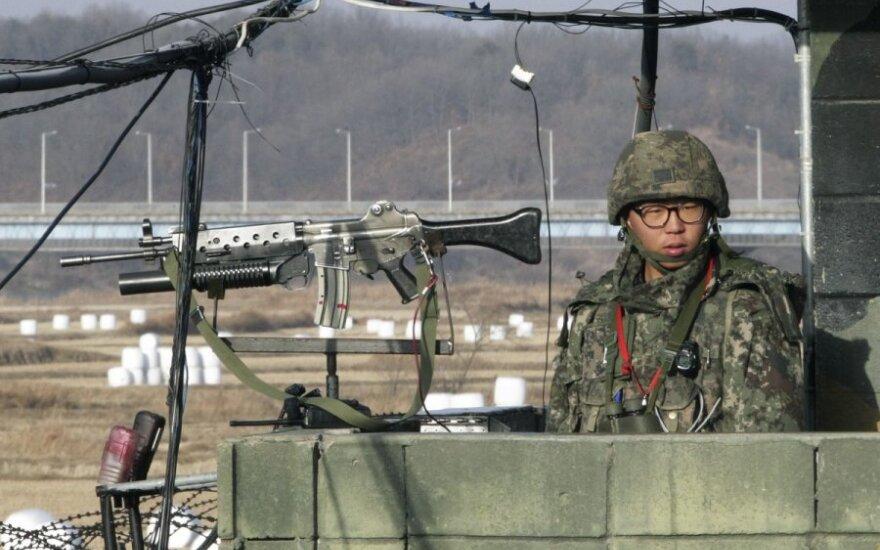 Korėjų pasienis ties Panmunjomo gyvenviete