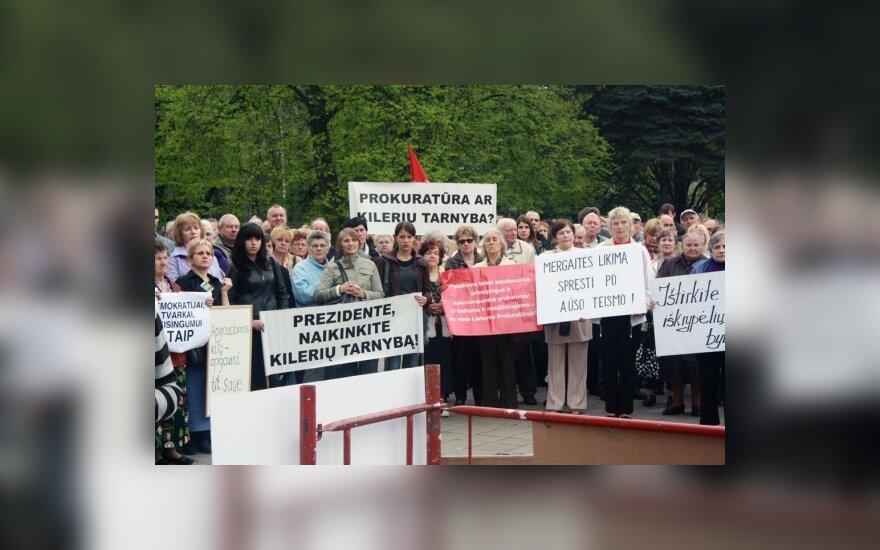 Сторонники Кедиса провели в Каунасе третий митинг