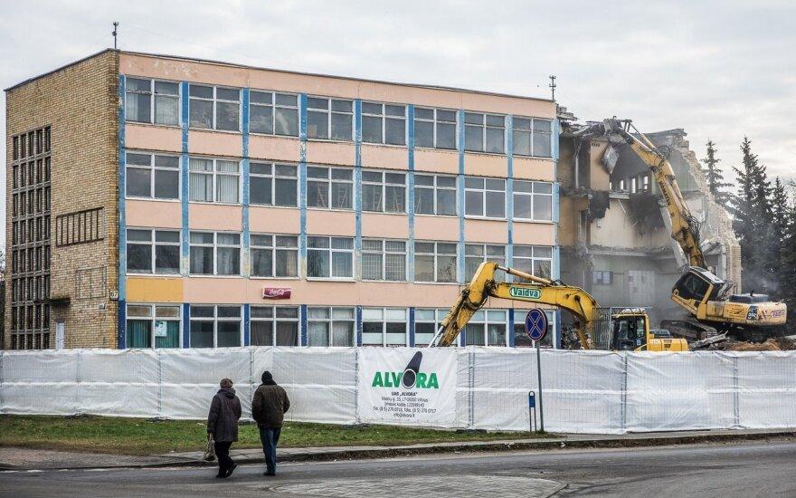 В Паневежисе сносят здание, на месте которого появится Lidl