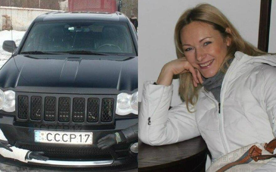 Eglė Žvagulytė-Magliula piktinasi sovietus garbinančiais automobilio numeriais