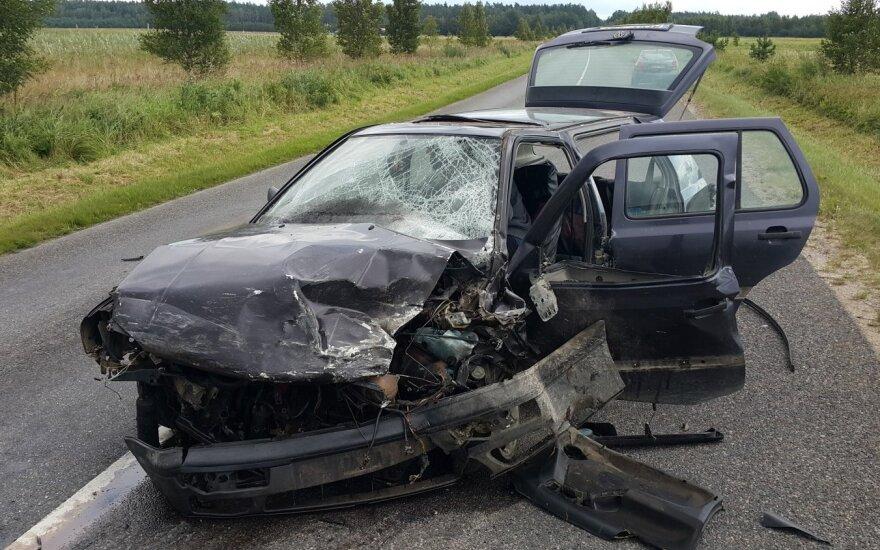 В Шилутском районе произошло жуткое ДТП: лобовое столкновение автомобилей