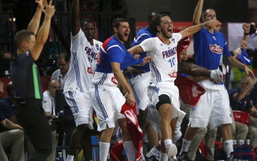 Prancūzijos krepšinio rinktinės džiaugsmas