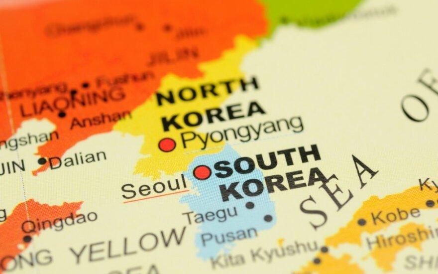 Pietų Korėja žemėlapyje