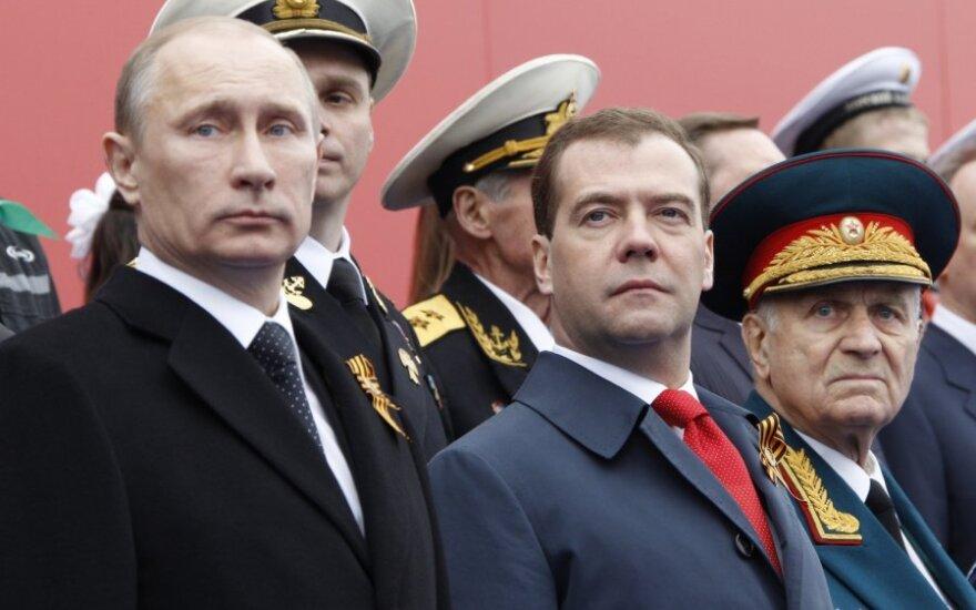 Vladimiras Putinas ir Dmitrijus Medvedevas