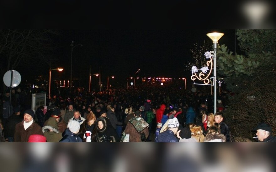Naujų metų sutikimas Palangoje (M. Milinio nuotr.)