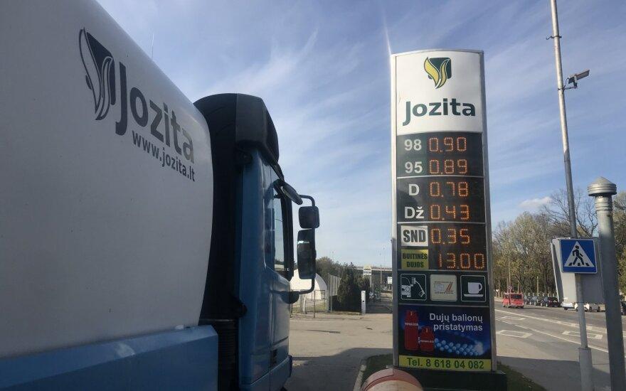 """Kuro kainos Kaune, bendrovės """"Jozita"""" degalinėje"""