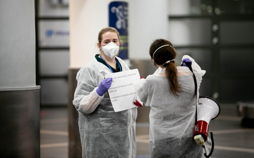 Литовские аэропорты обсудят со специалистами ситуацию с коронавирусом в Италии