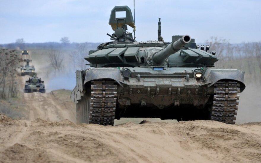 """Новый российский танк Т-14 """"Армата"""" дважды ломался на репетиции парада"""