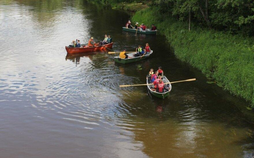 Vaikų ekologinis žygis Šventosios upėje