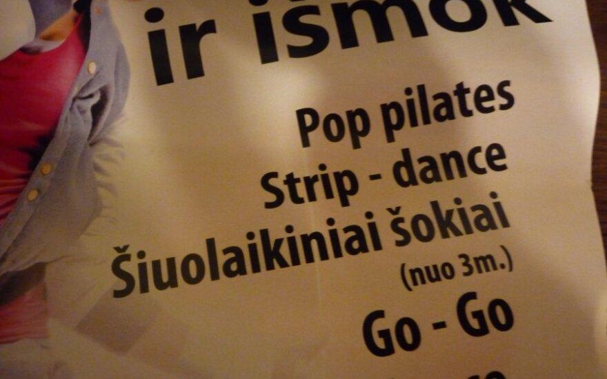 Šiaulių mokykloms – plakatai su kvietimais vaikams mokytis strip dance