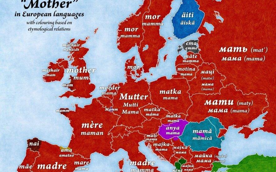 Mama w językach państw Europy