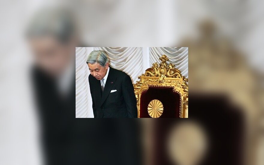 Japonijos imperatorius Akihito ir imperatorienė Michiko