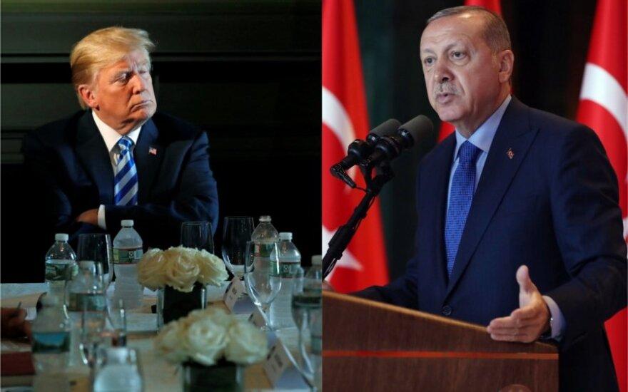 Donaldas Trumpas ir Recepas Tayyipas Erdoganas