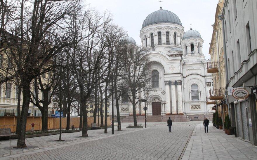 Kauno centras karantino metu