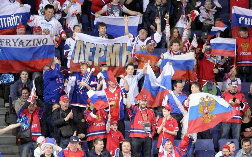 Rusijos rinktinė pasaulio ledo ritulio čempionate pralaimėjo JAV