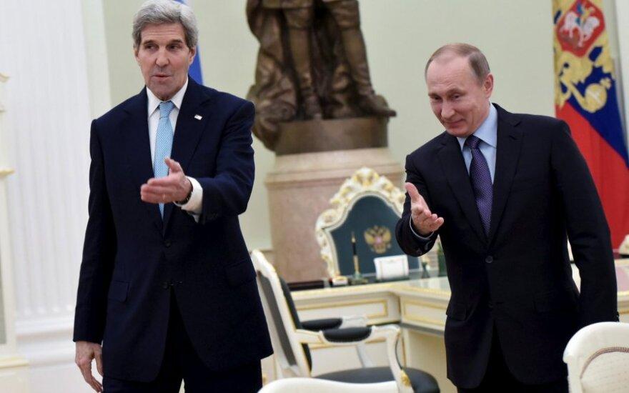 Bloomberg узнало подробности переговоров Путина и Керри по Сирии