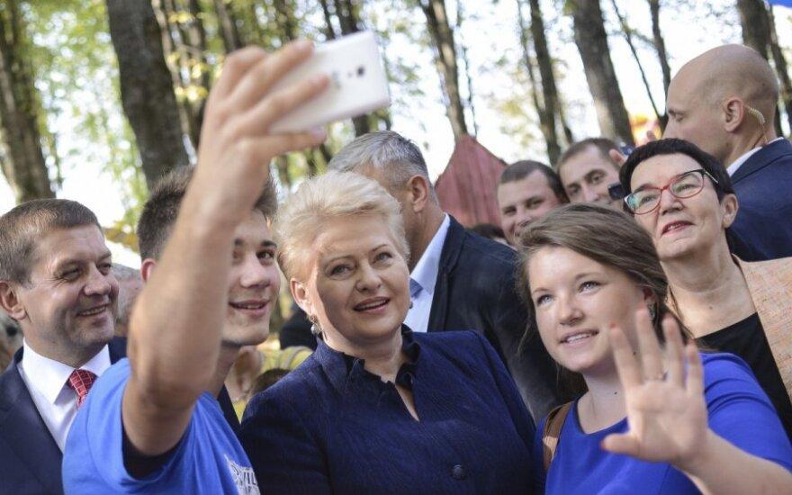Dalia Grybauskaitė Šalčininkuose