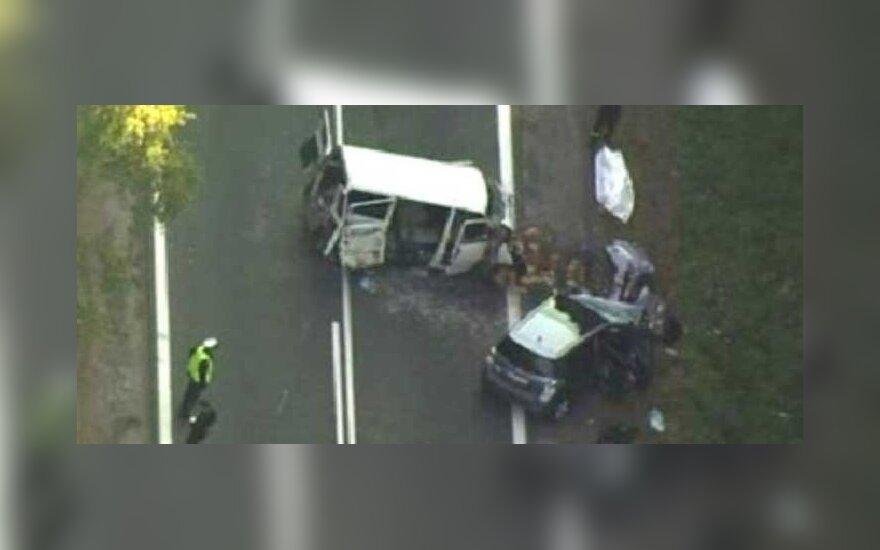 Lenkijoje avarijoje žuvo 4 žmonės, TVN24 nuotr.