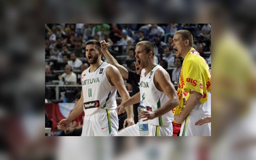 Баскетболисты литовской сборной рады победе