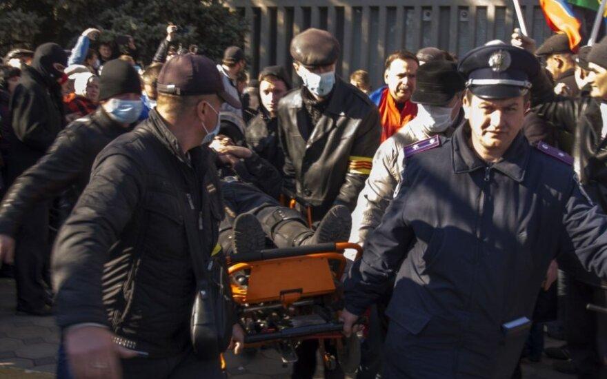 Активисты самообороны Майдана ударили по голове экс-министра юстиции