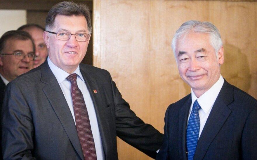 Algirdas Butkevičius ir Osama Motojima