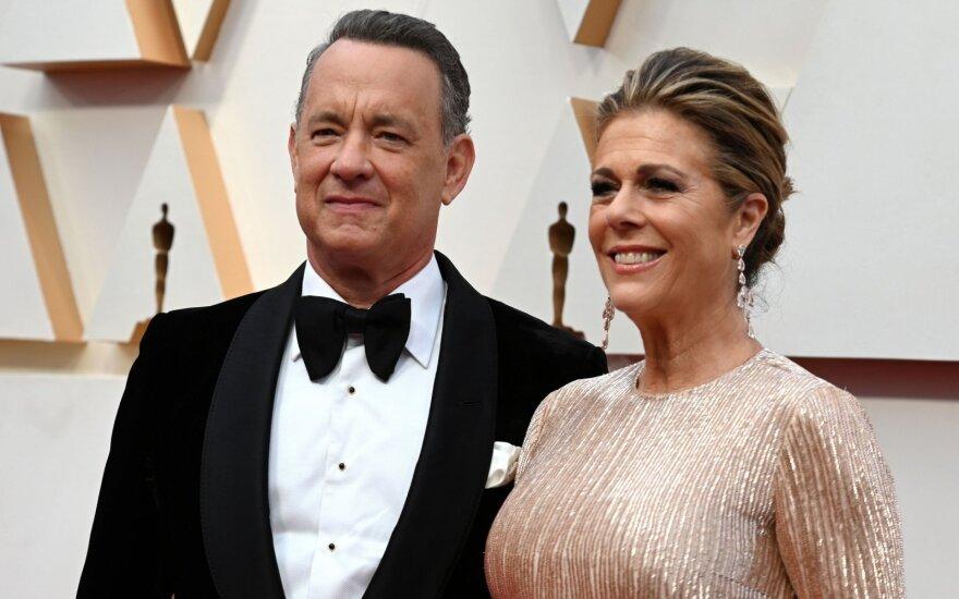 Tomas Hanksas ir jo žmona Rita Wilson