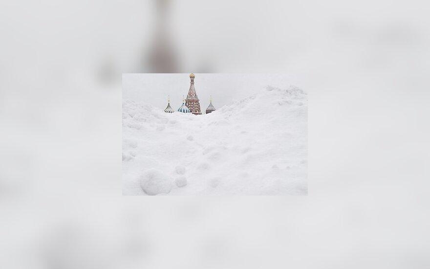 Масштабные снегопады в России