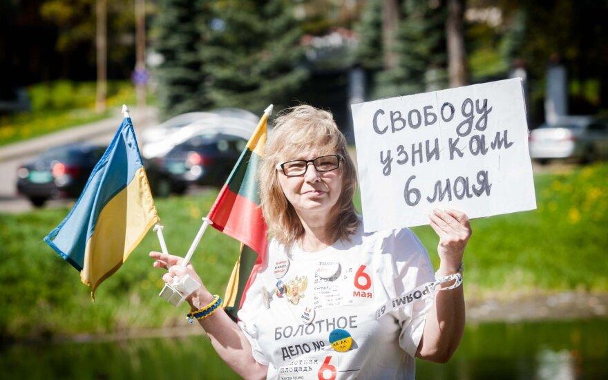 Россиянка у посольства РФ в Литве: 6 мая — это позор России