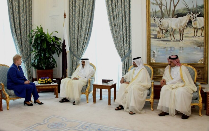 Dalia Grybauskaitė susitiko su Kataro vadovais